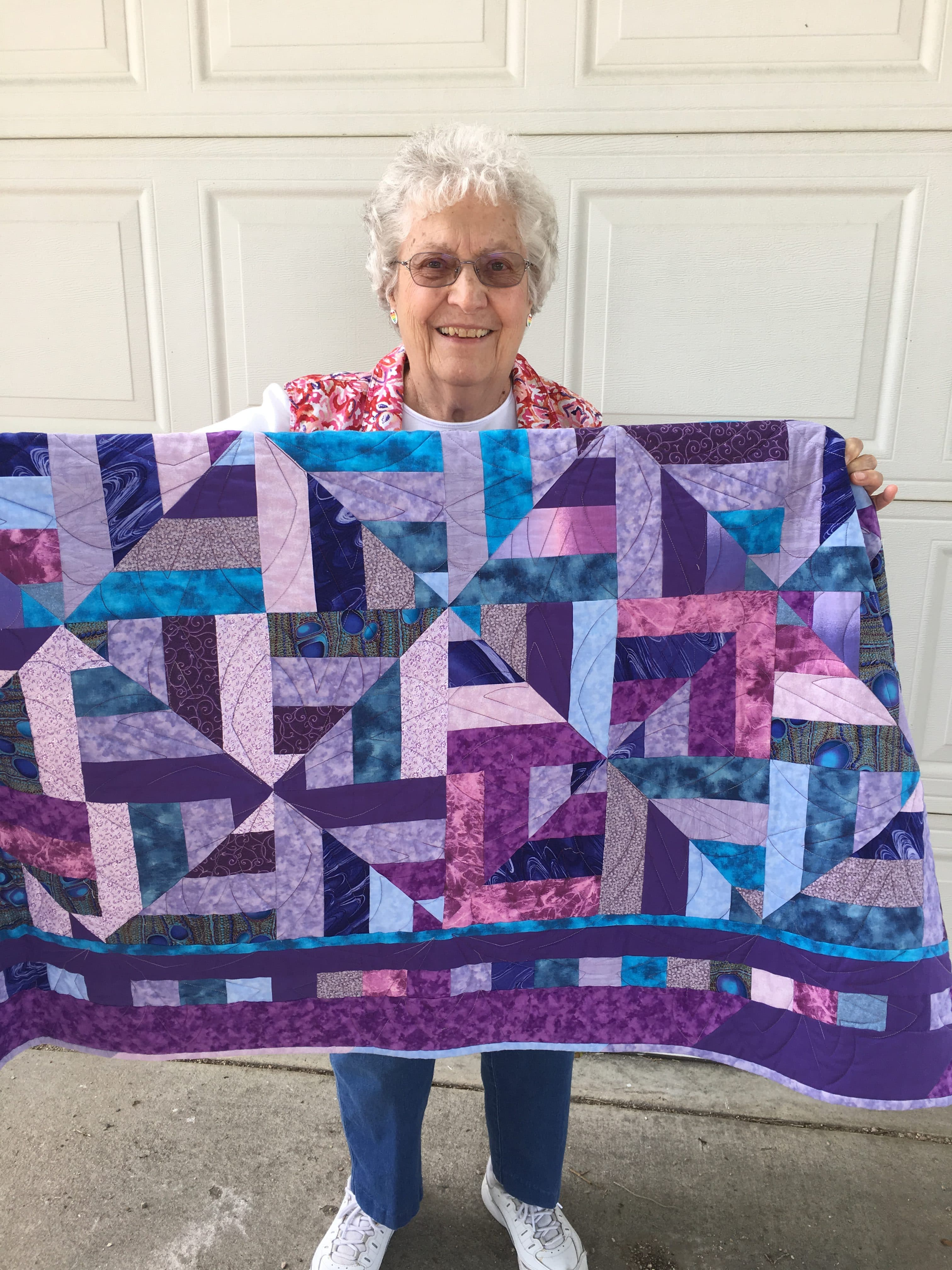 ruth firestien with quilt